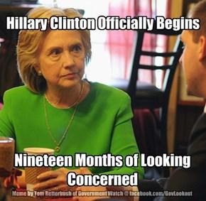 Hillary Clinton Officially Begins