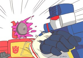 Who says Soundwave doesn't have a sense of humor?