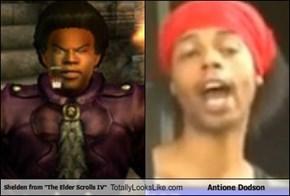 """Shelden from """"The Elder Scrolls IV"""" Totally Looks Like Antione Dodson"""