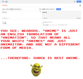 Shrek Is Best Anime