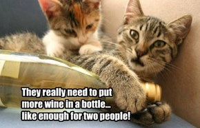 They really need to put more wine in a bottle... like enough for two people!