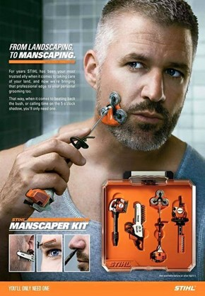 The MANscaper Kit is for MANly Men Who Do MANly Things in a MANly Part of Town