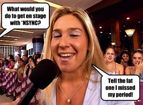 What would you do to get on stage with *NSYNC?