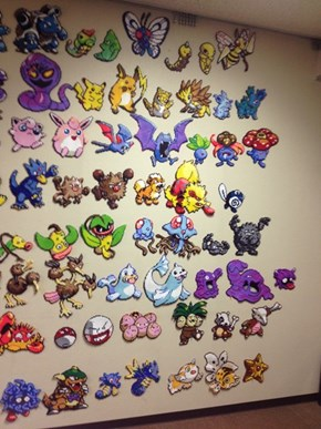 The Original Pokedex in Perler Beads