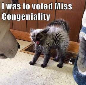 I was to voted Miss Congeniality