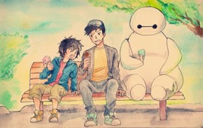 Baymax, What are You Even Doing With That Ice Cream?