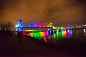 A Bridge in Arkansas Gets a Rainbow Makeover After the Passing of a Historic Anti-Discrimination Law