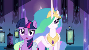 Celestia and Twilight at Canterlot RP Thread