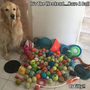 It's The Weekend....Have A Ball                                                                                 Or Fifty!!