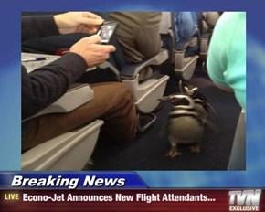 Breaking News - Econo-Jet Announces New Flight Attendants...