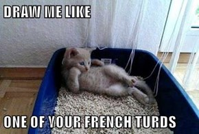 DRAW ME LIKE  ONE OF YOUR FRENCH TURDS