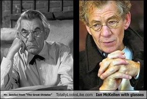 "Mr. Jaeckel from ""The Great Dictator"" Totally Looks Like Ian McKellen with glasses"