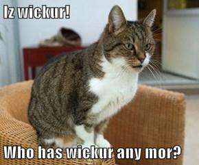 Iz wickur!  Who has wickur any mor?