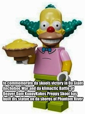 pawble da onliest battle ever fawt wif pies