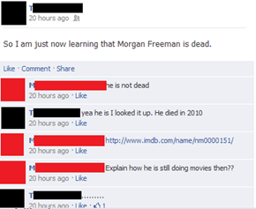 Nah, Morgan Freeman is Just Hanging Out in That Little Town by the Beach