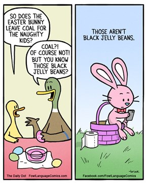 What Does the Easter Bunny Leave Bad Kids?