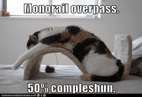 Monorail overpass.  50% compleshun.