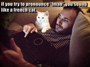 """If you try to pronounce """"lmao"""" you sound like a french cat."""