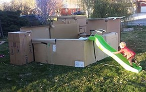 Outrage of the Day: Utah City Orders Takedown of Kid's Cardboard Fort