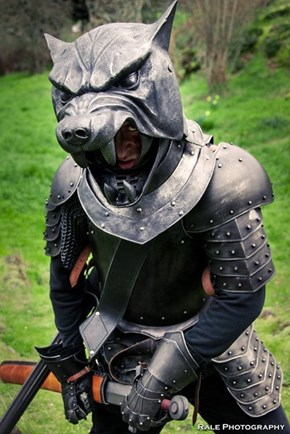 This Hound Cosplayer's Helmet is Stunning