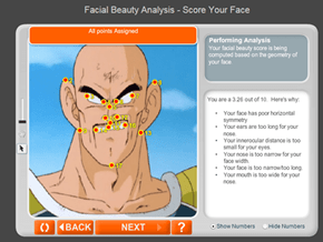Vegeta, what does the scouter say about my beauty level?