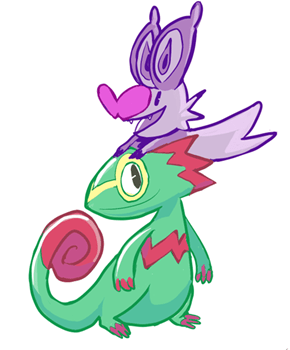 Kecleon and Noibat are Yooka-Laylee