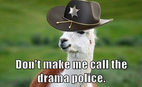 Don't make me call the drama police.