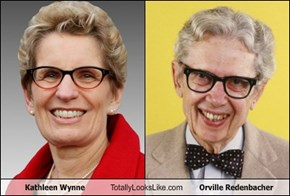 Kathleen Wynne Totally Looks Like Orville Redenbacher