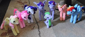 Amigurumi Mane 6 and Spike