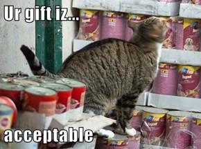 Ur gift iz...  acceptable