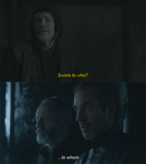 All Right, All Right, Calm Down Stannis