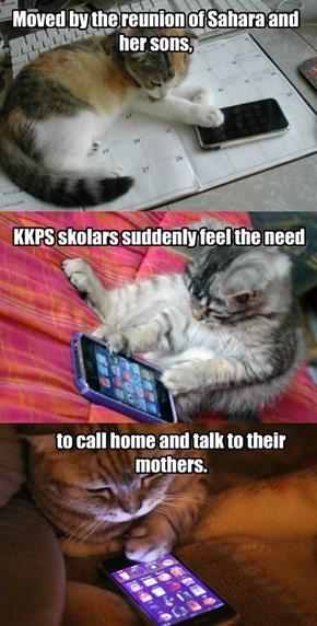KKPS skolars phone home