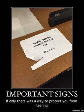 Important Signs