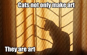 Cats not only make art