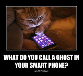 WHAT DO YOU CALL A GHOST IN YOUR SMART PHONE?