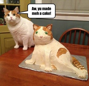 Aw, yu made meh a cake!