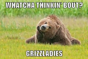 WHATCHA THINKIN' BOUT?  GRIZZLADIES