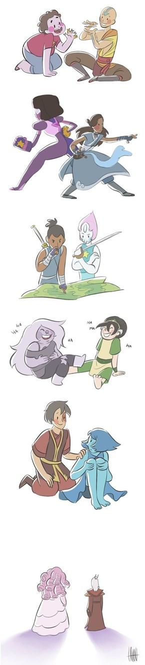 Steven Universe Meets Avatar
