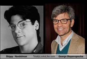 Skippy  Handelman Totally Looks Like George Stepanopoulos