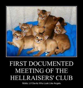 FIRST DOCUMENTED MEETING OF THE HELLRAISERS' CLUB
