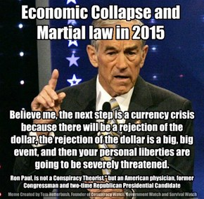 "Ron Paul, is not a Conspiracy Theorist,"" but an American physician, former Congressman and two-time Republican Presidential Candidate"