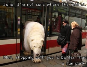 Julia, I'm not sure where the mall is.    Nan, shopping with you is better than a fun park.