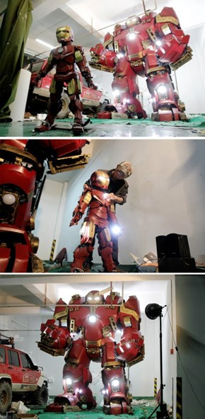 Art Teacher In China Build The Hulkbuster in Two Months