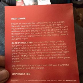 CD Projekt Red is Doing It Right