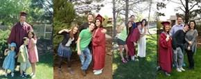 Siblings Take the Same Photo Each Time One Graduates