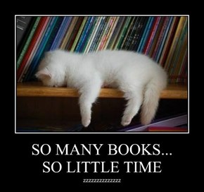 SO MANY BOOKS... SO LITTLE TIME