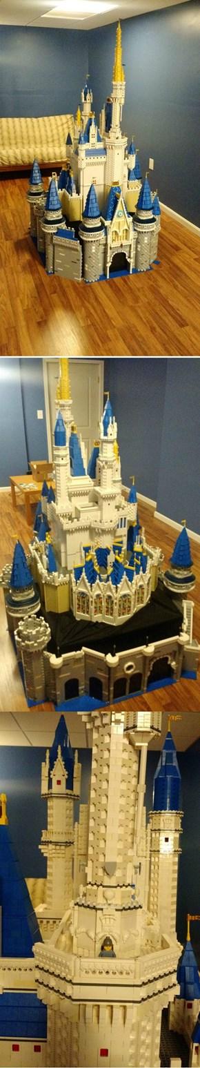 Cinderella's Castle Gets Bricked. 50,000 LEGO Bricks!