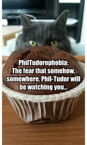PhilTudorophobia:  The fear that somehow, somewhere, Phil-Tudor will be watching you...