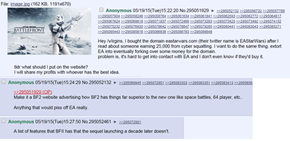 "4chan Users Buy the Domain Names ""EAStarWars.com"" and ""EAstarwarsbattlefront.com,"" Turn Them Into Hilarious Anti-EA Beacons"