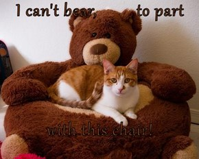 I can't bear,         to part  with this chair!